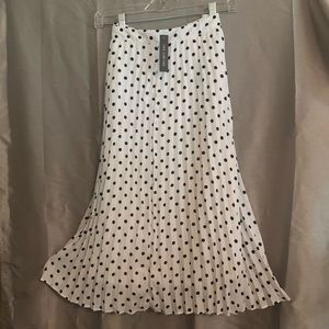 """White & Black skirt from """"The Limited"""" NWT"""